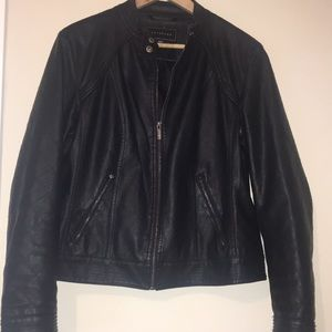 🔥🔥Metaphor Faux Leather Moto Jacket